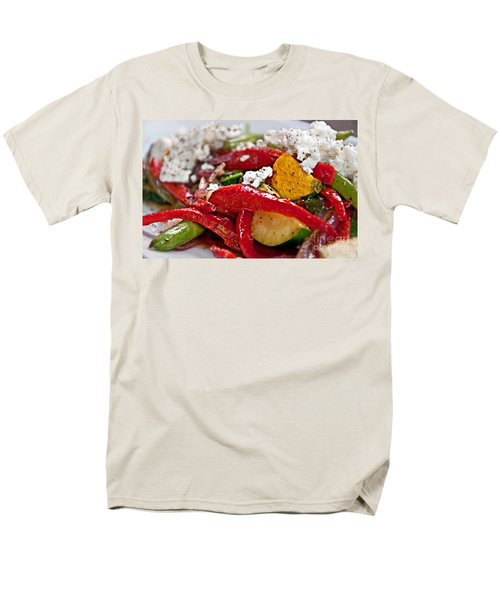 Men's T-Shirt  (Regular Fit) featuring the photograph Sauteed Vegetables With Feta Cheese Art Prints by Valerie Garner