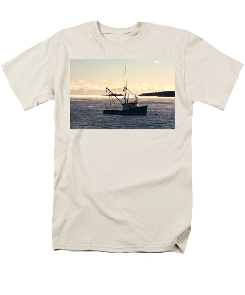 Men's T-Shirt  (Regular Fit) featuring the photograph Sea-smoke On The Harbor by Brent L Ander