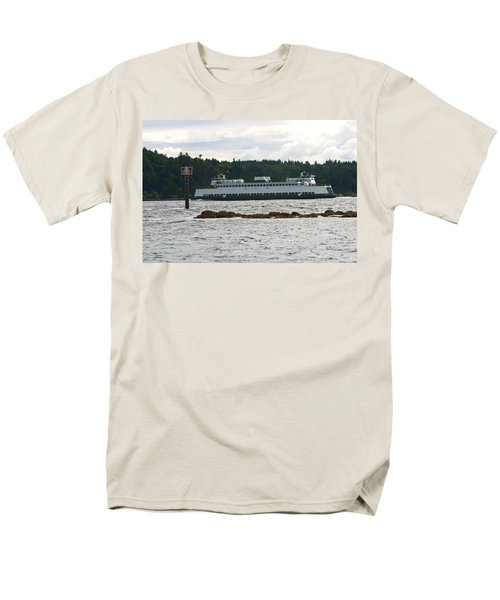 Men's T-Shirt  (Regular Fit) featuring the photograph Sealth Ferryboat Rich Passage by Kym Backland
