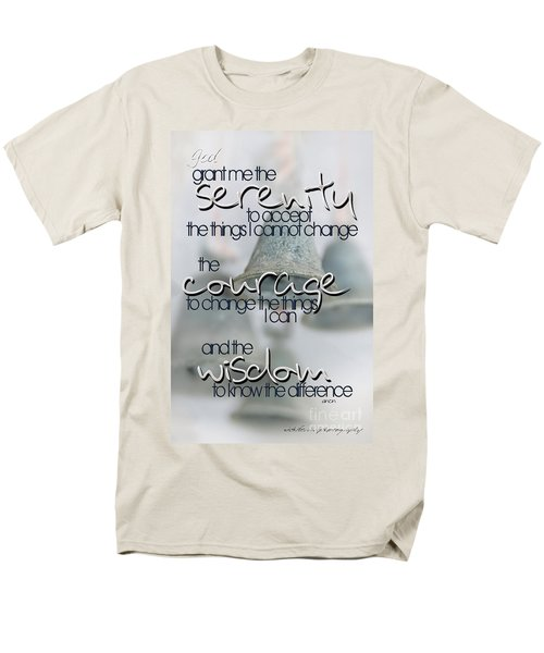 Serenity Prayer With Bells Men's T-Shirt  (Regular Fit) by Vicki Ferrari
