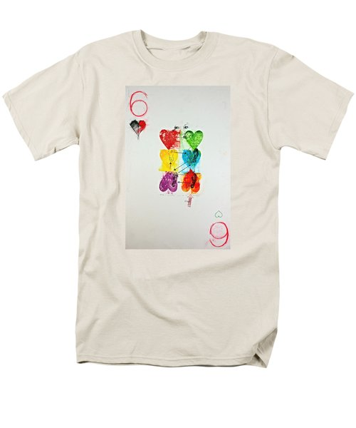 Six Of Hearts 2-52  2nd Series  Men's T-Shirt  (Regular Fit) by Cliff Spohn
