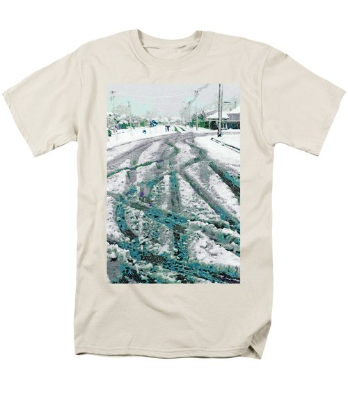 Men's T-Shirt  (Regular Fit) featuring the photograph Slipping And Sliding  by Steve Taylor