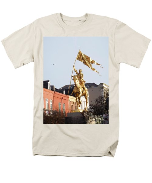 Men's T-Shirt  (Regular Fit) featuring the photograph St. Joan At Dawn by Alys Caviness-Gober