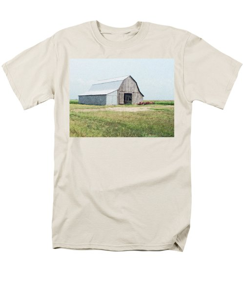 Men's T-Shirt  (Regular Fit) featuring the digital art Summer Barn by Debbie Portwood