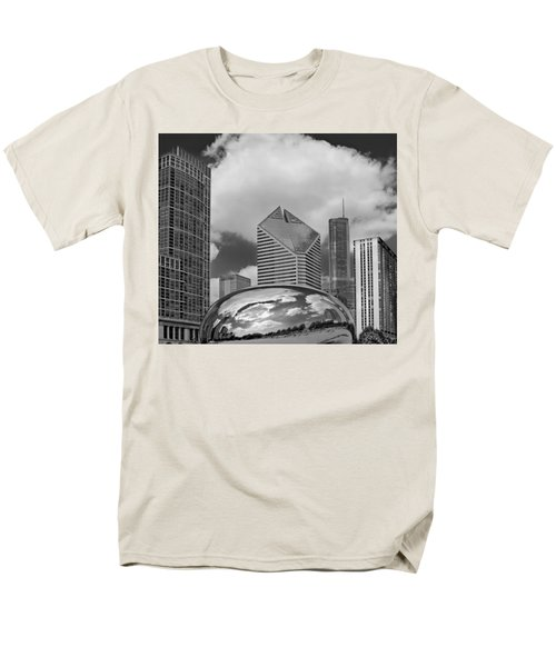 The Bean Chicago Illinois Men's T-Shirt  (Regular Fit) by Dave Mills