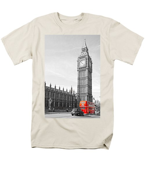 Men's T-Shirt  (Regular Fit) featuring the photograph The Big Ben - London by Luciano Mortula