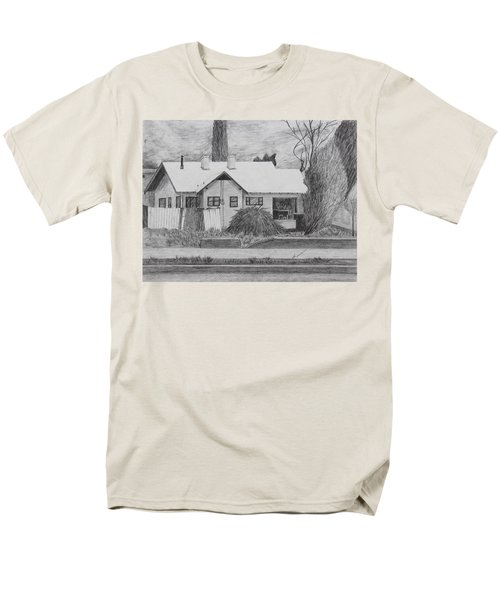 Men's T-Shirt  (Regular Fit) featuring the drawing The House Across by Kume Bryant
