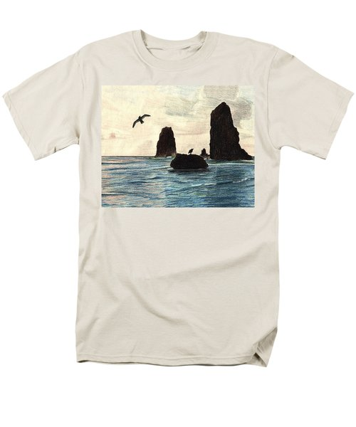 Men's T-Shirt  (Regular Fit) featuring the drawing The Needles by Wendy McKennon