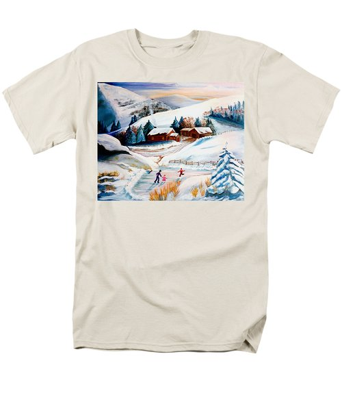 The Pond In Winter Men's T-Shirt  (Regular Fit) by Renate Nadi Wesley