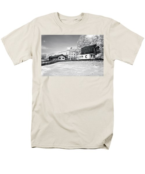 Men's T-Shirt  (Regular Fit) featuring the photograph Train Depot by Mary Almond