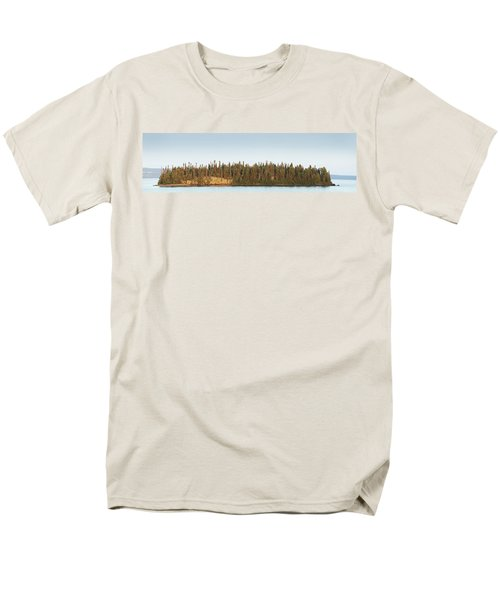 Trees Covering An Island On Lake Men's T-Shirt  (Regular Fit) by Susan Dykstra