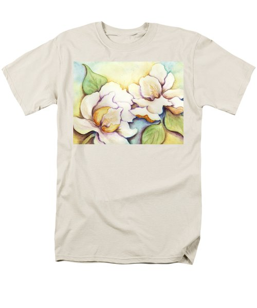 Men's T-Shirt  (Regular Fit) featuring the painting Two Magnolia Blossoms by Carla Parris
