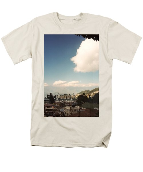 Men's T-Shirt  (Regular Fit) featuring the photograph View From The Window by Fotosas Photography