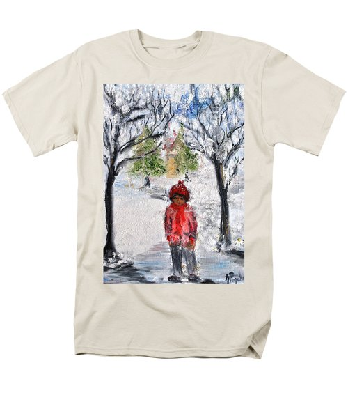 Walking Alone Men's T-Shirt  (Regular Fit) by Evelina Popilian