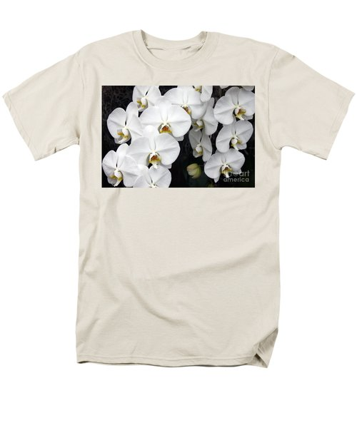 Men's T-Shirt  (Regular Fit) featuring the photograph White Orchids by Debbie Hart
