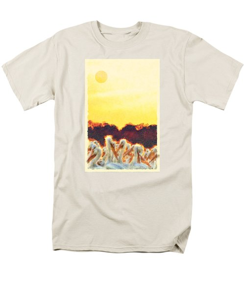 Men's T-Shirt  (Regular Fit) featuring the photograph White Pelicans In Sun by Dan Friend
