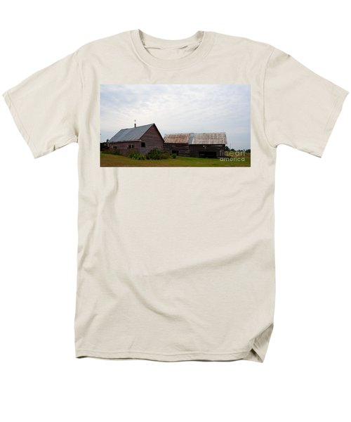 Men's T-Shirt  (Regular Fit) featuring the photograph Wood And Log Sheds by Barbara McMahon