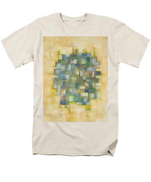Yellow With Green  Men's T-Shirt  (Regular Fit) by Patricia Cleasby