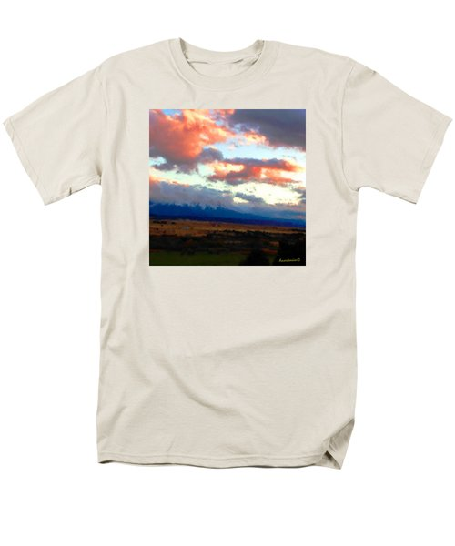 Sunset Clouds Over Spanish Peaks Men's T-Shirt  (Regular Fit) by Anastasia Savage Ealy
