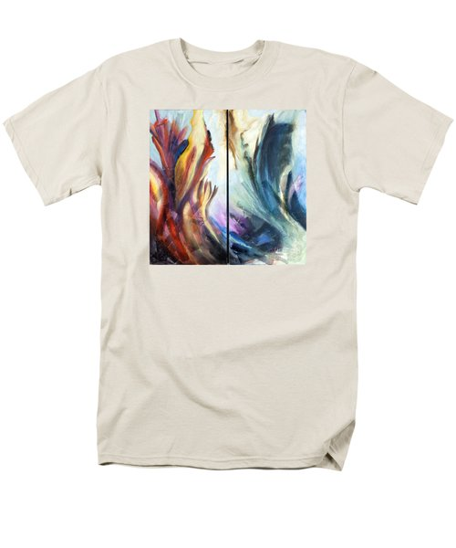 01321 Fire And Waves Men's T-Shirt  (Regular Fit) by AnneKarin Glass