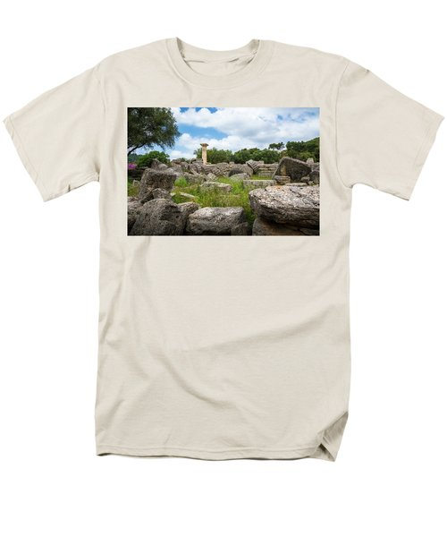 Ancient Olympia / Greece Men's T-Shirt  (Regular Fit) by Stavros Argyropoulos