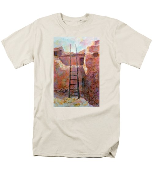 Men's T-Shirt  (Regular Fit) featuring the painting Ancient Walls by Ann Peck