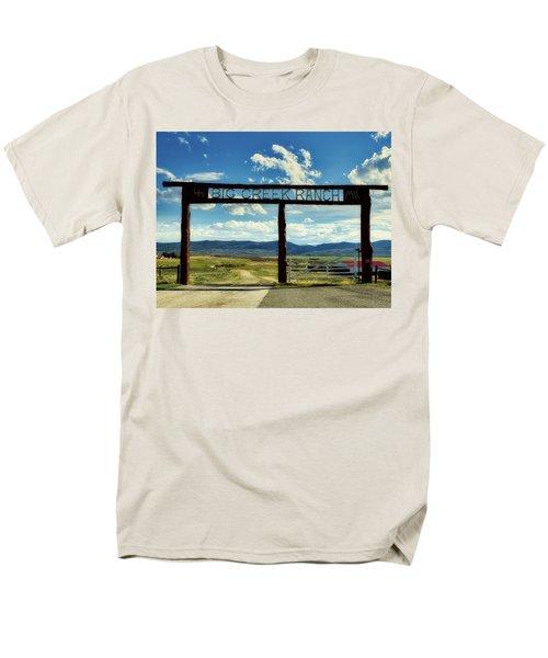 Big Creek Ranch Men's T-Shirt  (Regular Fit) by L O C