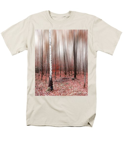 Men's T-Shirt  (Regular Fit) featuring the photograph Birchforest In Fall by Hannes Cmarits