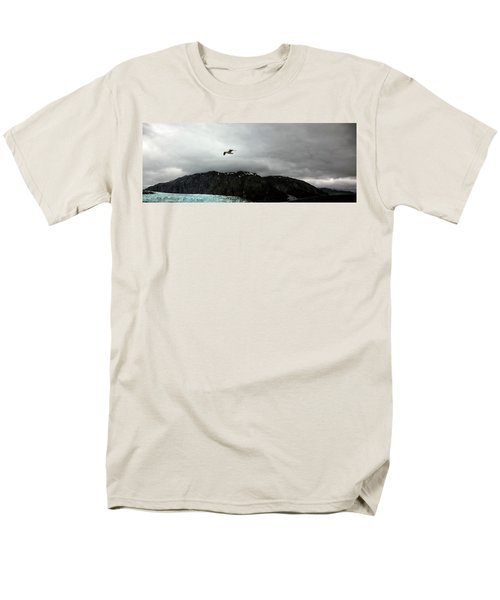 Men's T-Shirt  (Regular Fit) featuring the photograph Bird Over Glacier - Alaska by Madeline Ellis