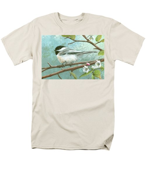 Black Cap Chickadee Men's T-Shirt  (Regular Fit) by Mike Brown