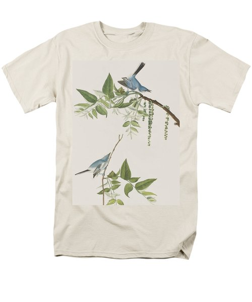 Blue Grey Flycatcher Men's T-Shirt  (Regular Fit) by John James Audubon