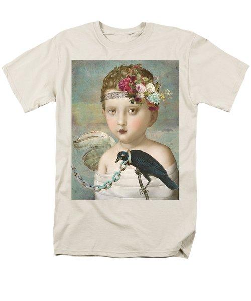 Men's T-Shirt  (Regular Fit) featuring the digital art Broken Wing by Lisa Noneman