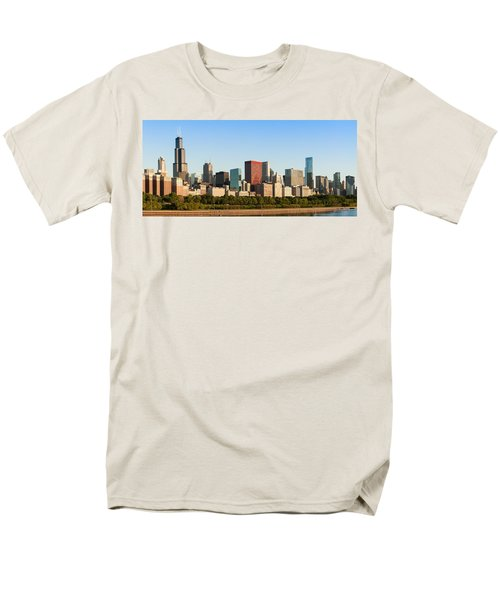 Chicago Downtown At Sunrise Men's T-Shirt  (Regular Fit) by Semmick Photo