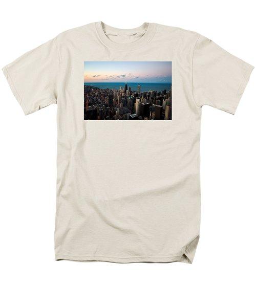 Men's T-Shirt  (Regular Fit) featuring the photograph Chicago Skyline 2 by Richard Zentner