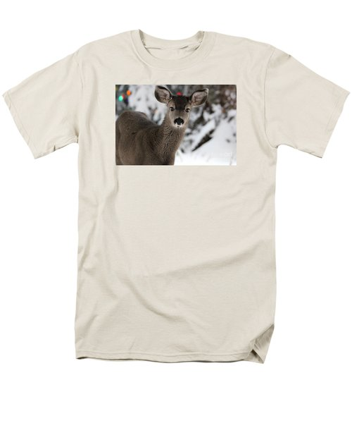 Men's T-Shirt  (Regular Fit) featuring the photograph Deer by Irina Hays