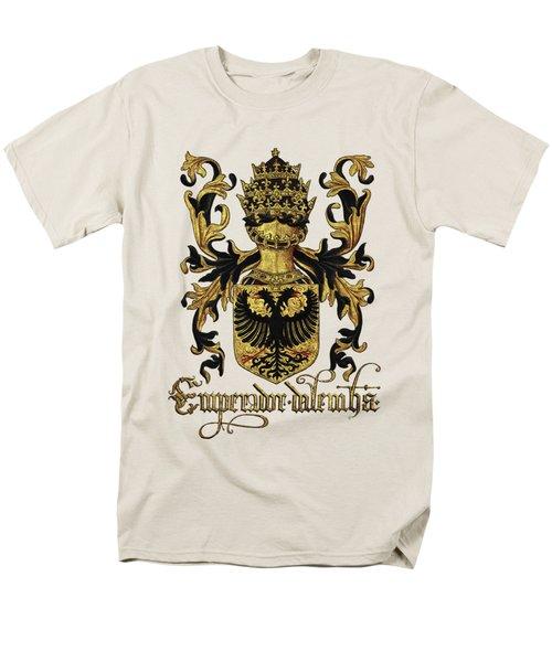 Emperor Of Germany Coat Of Arms - Livro Do Armeiro-mor Men's T-Shirt  (Regular Fit) by Serge Averbukh