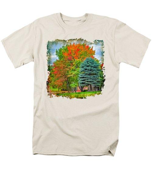 Fall Colors Men's T-Shirt  (Regular Fit) by John M Bailey