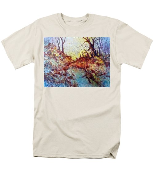 Men's T-Shirt  (Regular Fit) featuring the painting Forgotten Fence by Carolyn Rosenberger