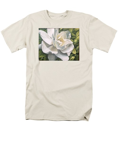 Men's T-Shirt  (Regular Fit) featuring the painting Gardenia by Natalia Tejera