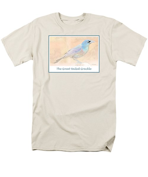Men's T-Shirt  (Regular Fit) featuring the digital art Great Tailed Grackle by A Gurmankin