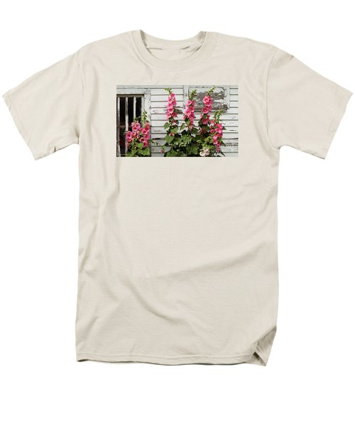 Hollyhocks Men's T-Shirt  (Regular Fit) by Bruce Morrison