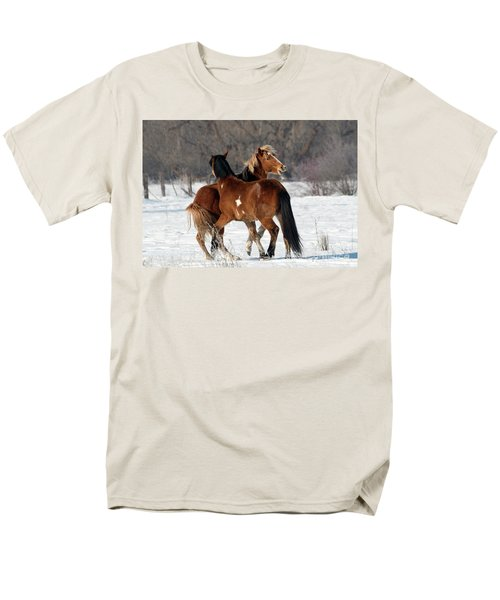 Men's T-Shirt  (Regular Fit) featuring the photograph Horseplay by Mike Dawson