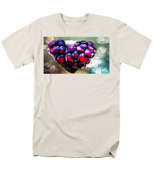 Men's T-Shirt  (Regular Fit) featuring the painting I Heart You by Genevieve Esson