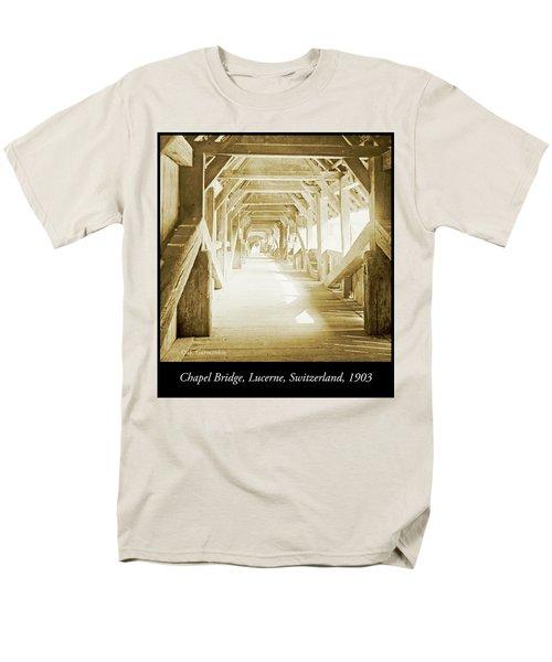 Kapell Bridge, Lucerne, Switzerland, 1903, Vintage, Photograph Men's T-Shirt  (Regular Fit) by A Gurmankin