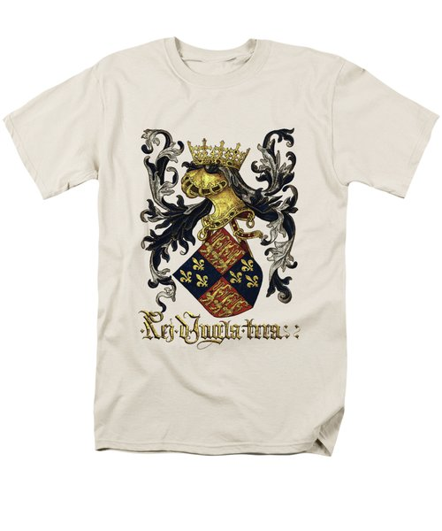 King Of England Coat Of Arms - Livro Do Armeiro-mor Men's T-Shirt  (Regular Fit) by Serge Averbukh