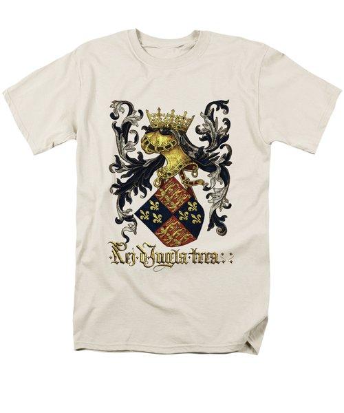 King Of England Coat Of Arms - Livro Do Armeiro-mor Men's T-Shirt  (Regular Fit) by Serge Averbukh
