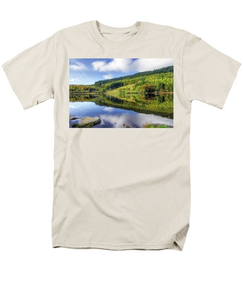 Lake Geirionydd Men's T-Shirt  (Regular Fit) by Ian Mitchell