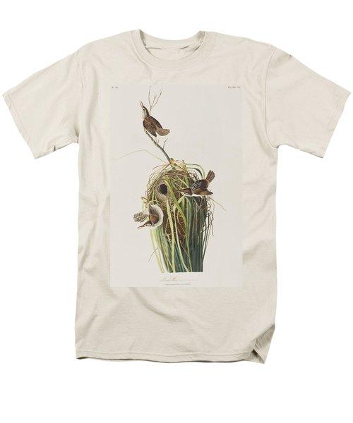 Marsh Wren  Men's T-Shirt  (Regular Fit) by John James Audubon