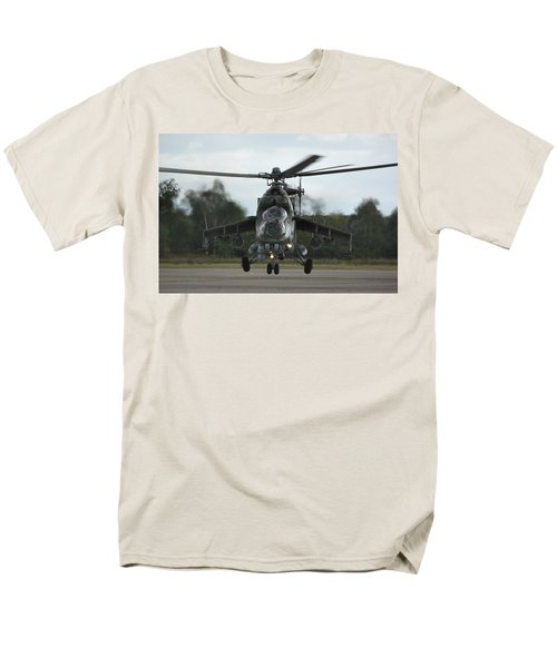 Men's T-Shirt  (Regular Fit) featuring the photograph Mil Mi-24v Hind E by Tim Beach