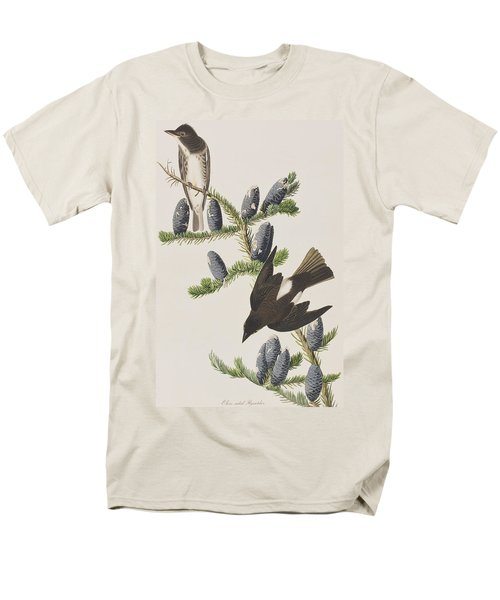 Olive Sided Flycatcher Men's T-Shirt  (Regular Fit) by John James Audubon